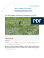 24th October,2018 Daily Global Regional Local Rice E-newsletter