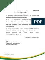 COMUNICADO 10-2018-2018-FSM