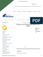Sirena Con Estrobo de Bosch (W-HSR)