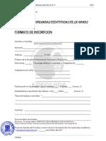 Formato de Inscripcion