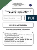 Prova de Residência Multiprofissional em Medicina Veterinária - UFU 2017