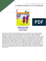 Scénario 1 Méthode de Français A1 A2 (1CD Audio)