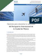 Opciones para solucionar la saturación del Aeropuerto Internacional de la CDMX