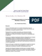 Autopsia Psicologica en El Homicidio- Conferencia de Teresita Garcia