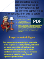 Orientación Didáctica Para La Construcción Del Proyecto De
