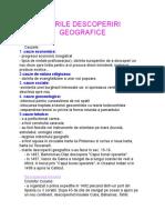 Marile Descoperiri Geogafice - Istorie