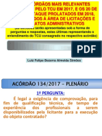 60 ACÓRDÃOS DE 2017 E 20 ACÓRDÃOS DE 2018 - ELO CONSULTORIA_17 a 19-10-2018_apresentação