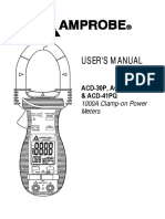 ACD 30P ACD 31P ACD 41PQ Clamp on Power Meters Manual