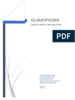 ISLAMOPHOBIA CAUSES, IMPACT AND SOLUTION