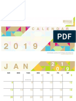 BPW Free Printable 2019 Calendars Geo