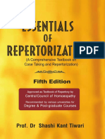 Tiwari Essentials of Repertorization Contents Reading Excerpt