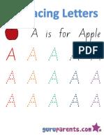 Alphabet Worksheets Handwriting Capital Letter A
