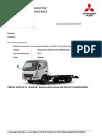 Cotizacion Camion Mitsubishi Fuso 5t III Euro