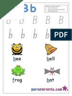Prescholer letter B
