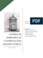 Tecnicas de analisis fichas de conservacion de patrimonio