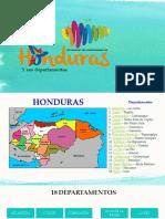 18 Departamentos de Honduras Diapositivas