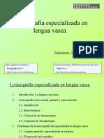 Lexicografía especializada en lengua vasca