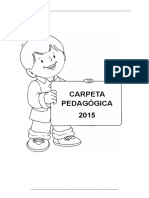 Carpeta Pedagogica Inicial 3 Años 2015