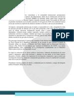 Comunicado  - Ante el fallecimiento del Concejal Fernando Albán