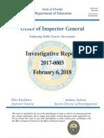 OIG Case #2017-0003 (Hillsborough) - Full Investigative Report