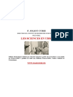 Joliot Curie Les Sciences en URSS