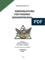 Betriebsanleitung für Phoenix Bedienpersonal
