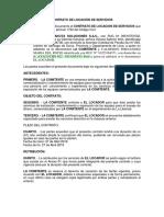 Contrato de Locacion de Servicio - Huanuco