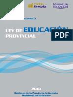 PDF Anteproyecto de ley de educación provincial