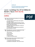 Myers Psychology for AP 1st Edition by David G. Myers test bank