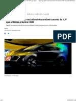 Hyundai Vai Mostrar No Salão Do Automóvel Conceito de SUV