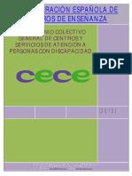 XIV Convenio Colectivo de Centros y Servicios de Atención a Personas Con Discapacidad