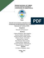 Estudio de Los Factores Culturales de La EPAD de La Untumbes, 2018.