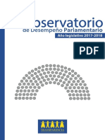 Informe de Desempeño Parlamentario 2018