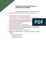 Preguntas de Modelos Fisiológicos Limitados Por La Permeabilidad de Membrana
