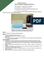 Reacción Entre El Aluminio y Una Disolución de Cu
