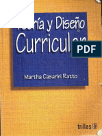 Teoria y Diseño Curricular-libro de Martha Cassarini