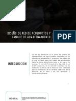 Diseño de Red de Acueductos y Tanque De