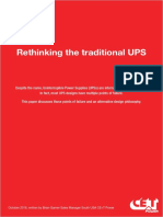 201701 CET Power - Whitepaper - No Break vs Conventional UPS