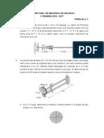 Examen Final de Mecánica de Sólidos i