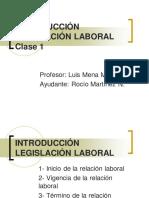 Introducci n Legislaci n Laboral - Clase 1