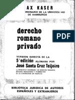 Derecho Romano Privado, Max Kaser