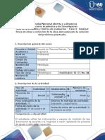 Guía de Actividades y Rúbrica de Evaluación Fase 3 - Realizar Lluvia de Ideas y Selección de La Idea Adecuada Para La Solución Del Problema Planteado