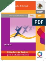 09 SEP (2010). Estándares para la Gestión de Escuelas, Estándares de Programa de Escuelas de Calidad, Modulo III,.pdf