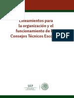 13 SEP (2013). Lineamientos para la organización y el funcionamiento de los Consejos Técnicos Escolares, disponible.pdf