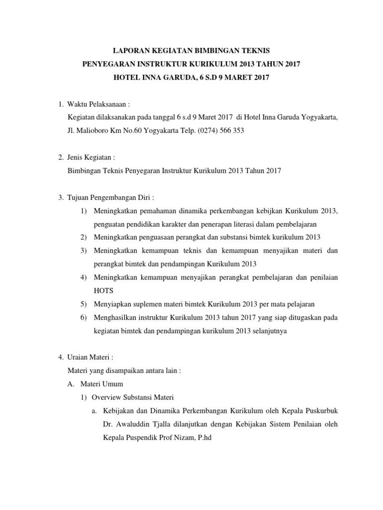 347358013 Laporan Kegiatan Bimtek 2017 Docx
