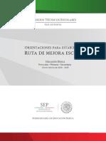 19 SEP (2014). Orientaciones para establecer una Ruta de Mejora. Educación Básica preescolar, Primaria, Secundaria,.pdf