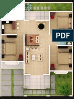 Denah Desain Rumah Minimalis 3 Kamar