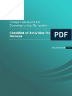 Guide for Commissioning Generation