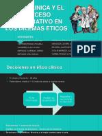 Etica Clinica y El Proceso Deliberativo