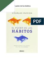Reseña El Poder de Los Hábitos